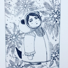 """snow"" etching 2018"